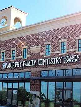 Outside view of Murphy Family Dentistry your dentist open Saturday in Murphy