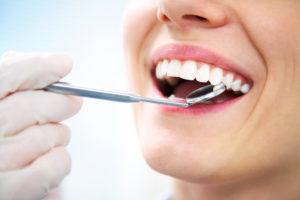 dental visit smiling woman